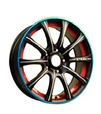 llantas 15x6 4x100 B/M THREE COLORS TRSLK2053 SLK