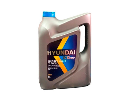 lubricantes    XTEER DIESEL ULTRA C3 5W30 DPF 100% SYNTHETIC 6L HYUNDAI